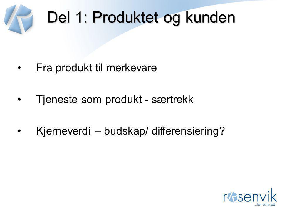 Del 1: Produktet og kunden