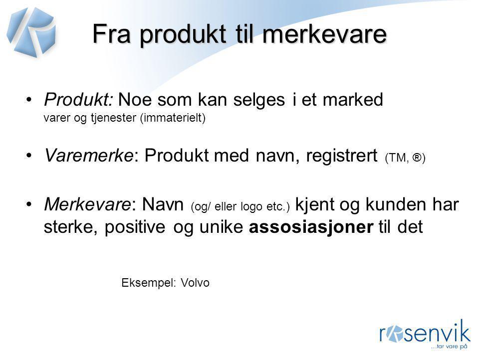 Fra produkt til merkevare