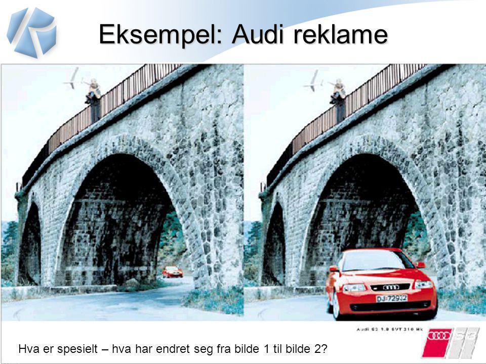 Eksempel: Audi reklame