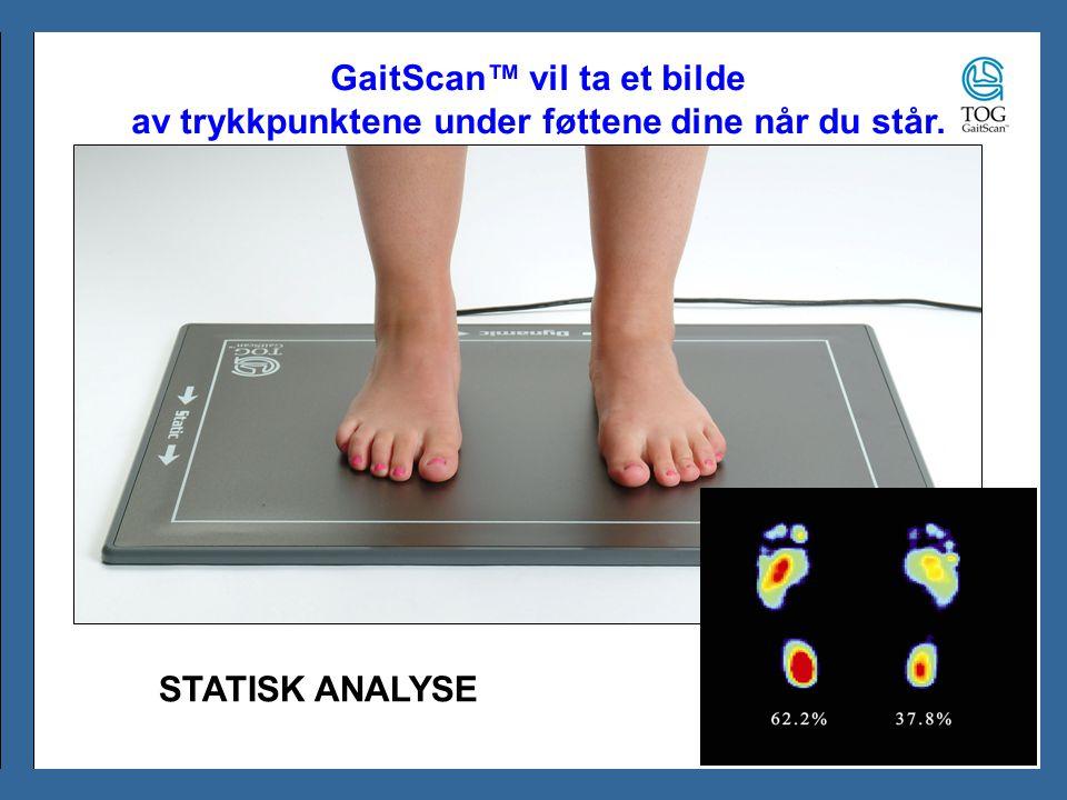 GaitScan™ vil ta et bilde