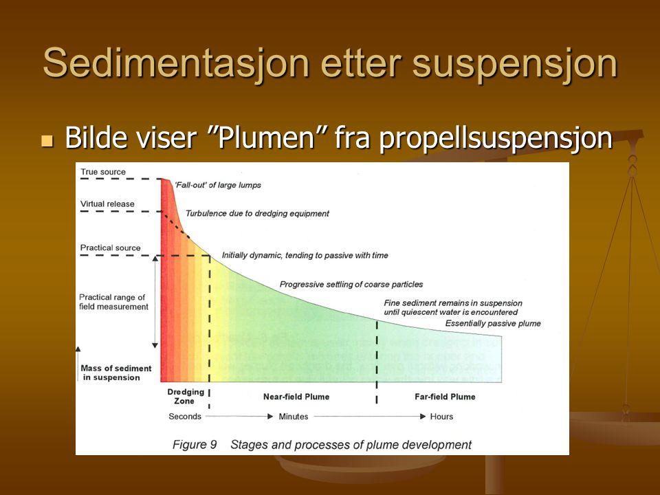 Sedimentasjon etter suspensjon