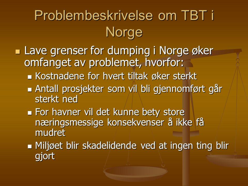 Problembeskrivelse om TBT i Norge