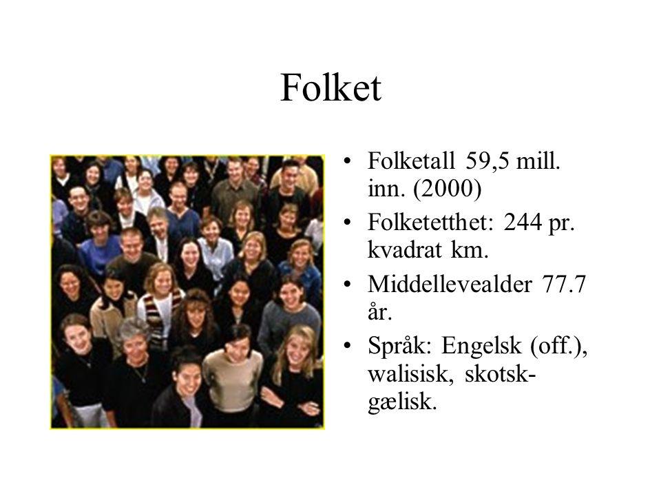 Folket Folketall 59,5 mill. inn. (2000)