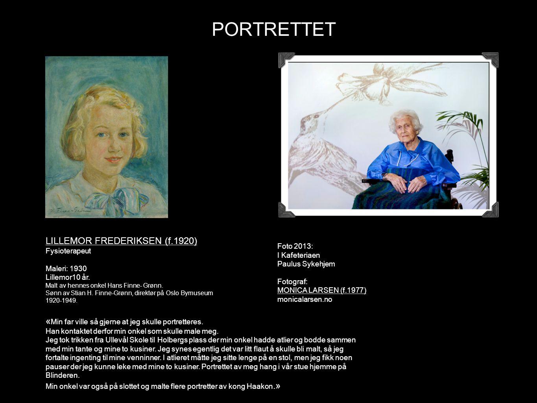 PORTRETTET LILLEMOR FREDERIKSEN (f.1920)