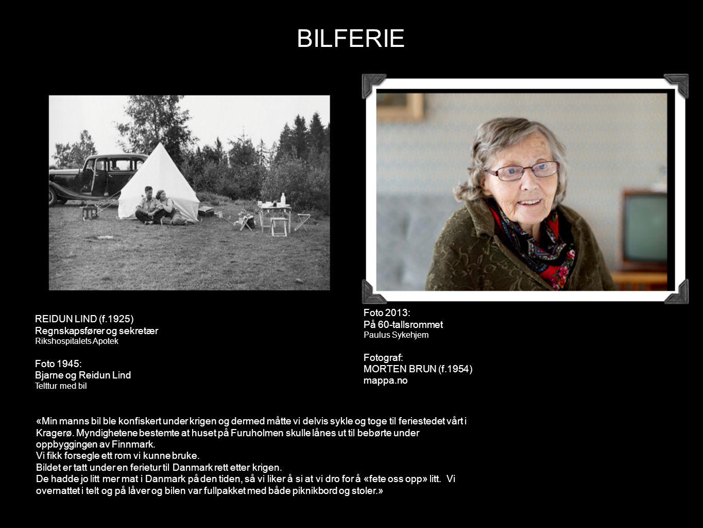 BILFERIE Foto 2013: På 60-tallsrommet REIDUN LIND (f.1925)