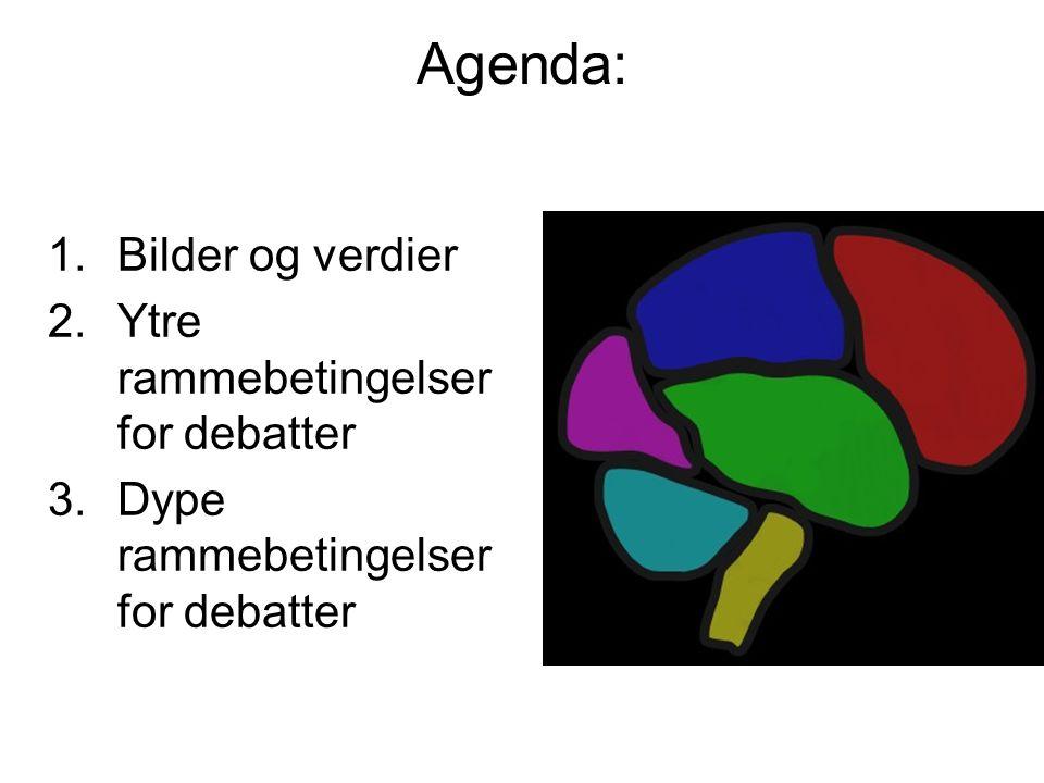 Agenda: Bilder og verdier Ytre rammebetingelser for debatter