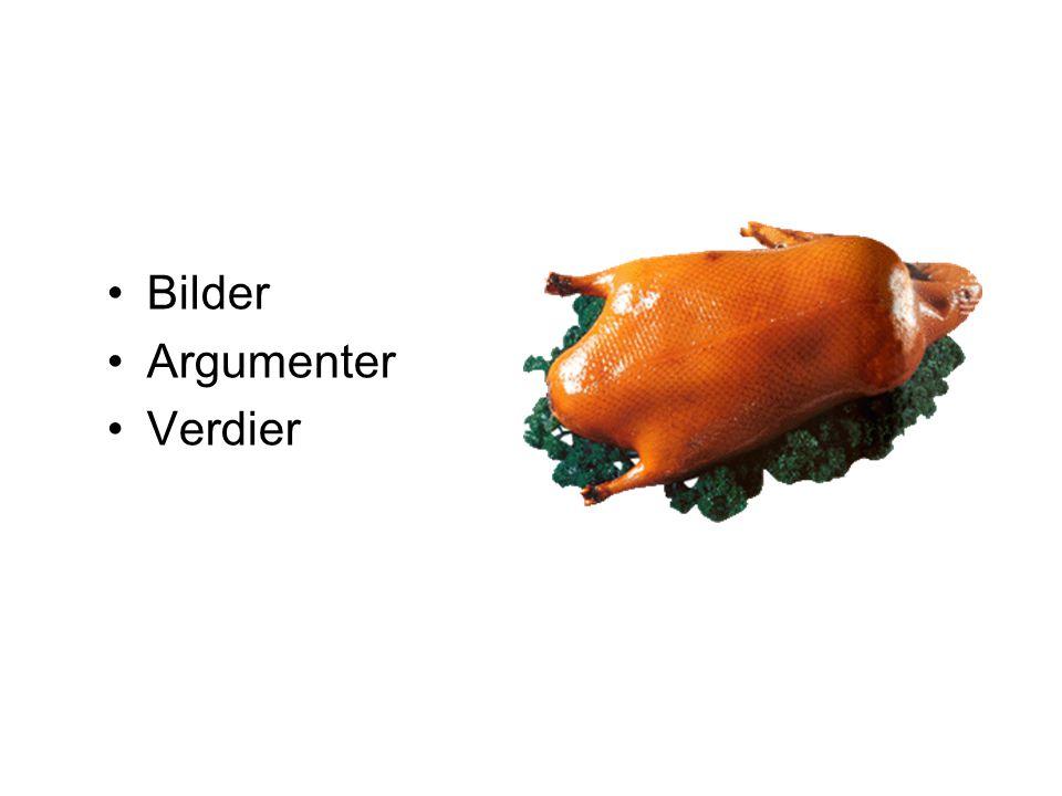 Bilder Argumenter Verdier