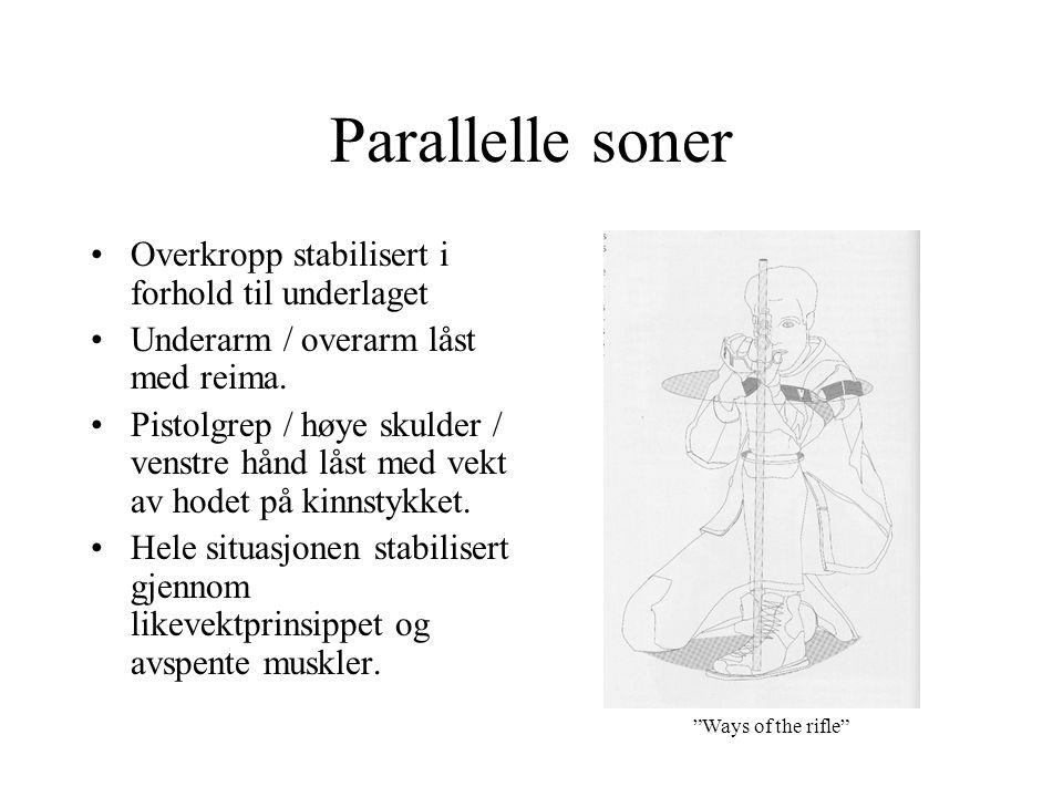 Parallelle soner Overkropp stabilisert i forhold til underlaget