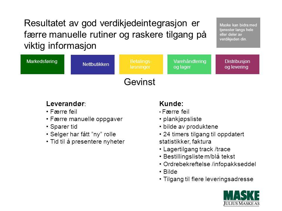 Resultatet av god verdikjedeintegrasjon er færre manuelle rutiner og raskere tilgang på viktig informasjon