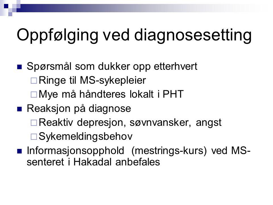Oppfølging ved diagnosesetting