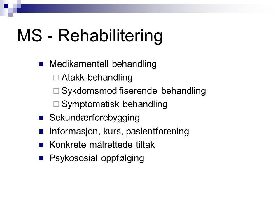 MS - Rehabilitering Medikamentell behandling Atakk-behandling