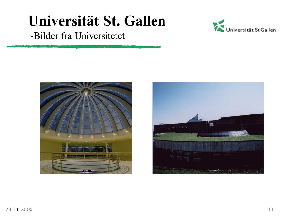 Universität St. Gallen -Bilder fra Universitetet