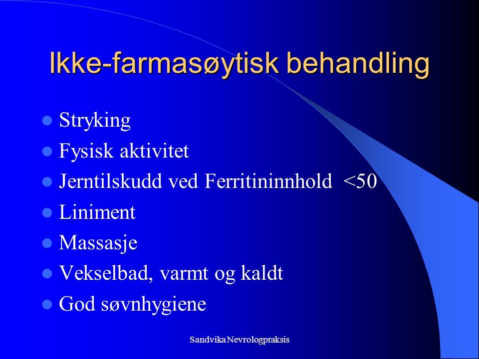 Ikke-farmasøytisk behandling