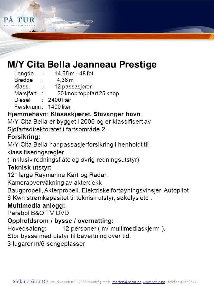 M/Y Cita Bella Jeanneau Prestige