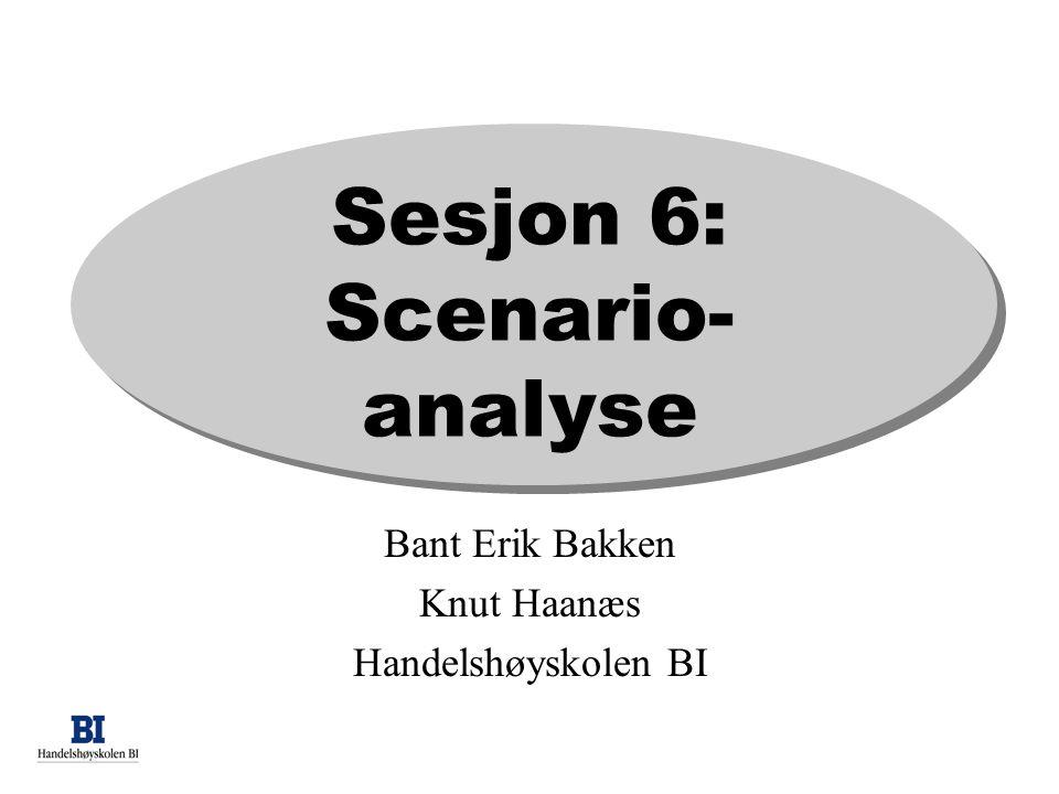 Sesjon 6: Scenario- analyse Bant Erik Bakken Knut Haanæs