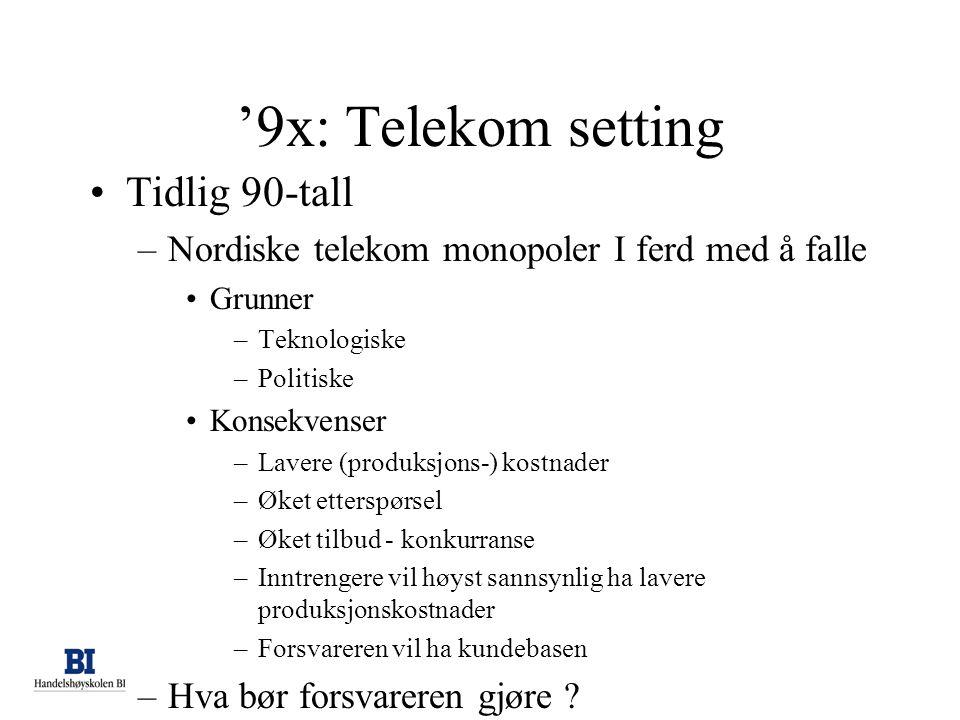 '9x: Telekom setting Tidlig 90-tall
