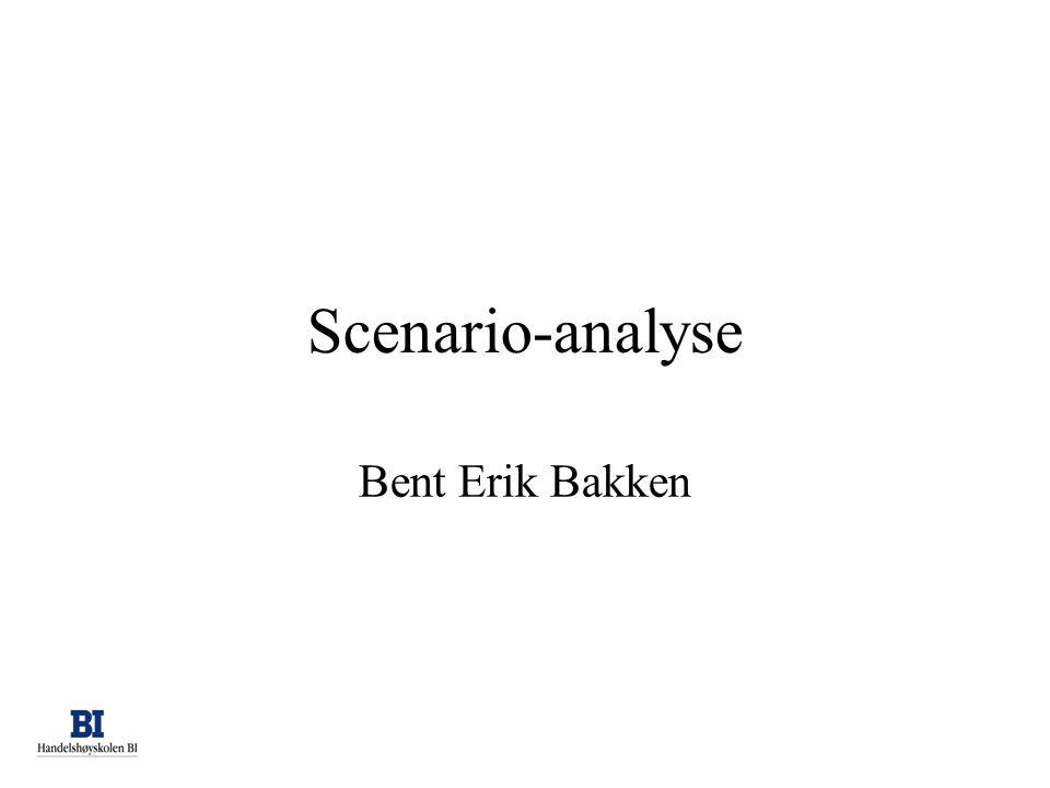 Scenario-analyse Bent Erik Bakken background professional before