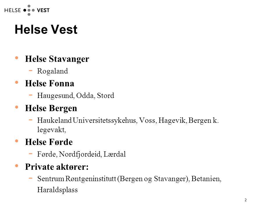 Helse Vest Helse Stavanger Helse Fonna Helse Bergen Helse Førde