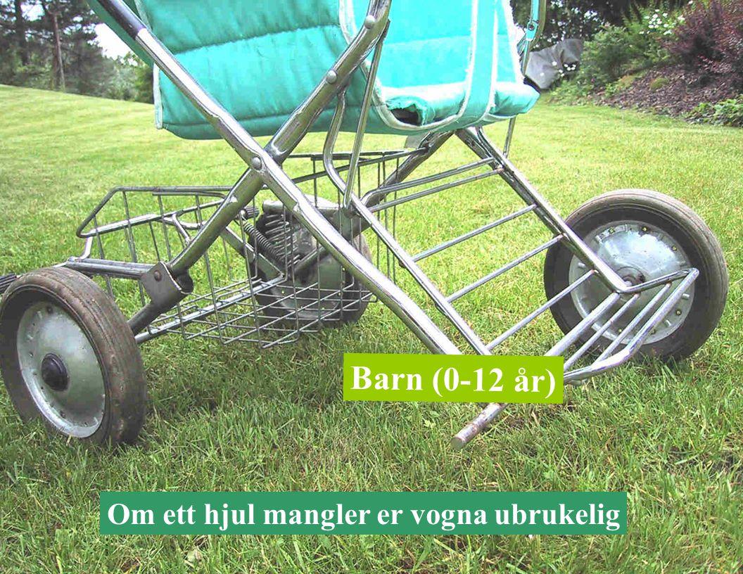 Barn (0-12 år) Om ett hjul mangler er vogna ubrukelig