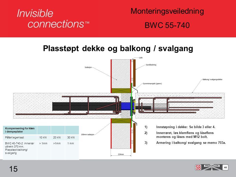 Plasstøpt dekke og balkong / svalgang