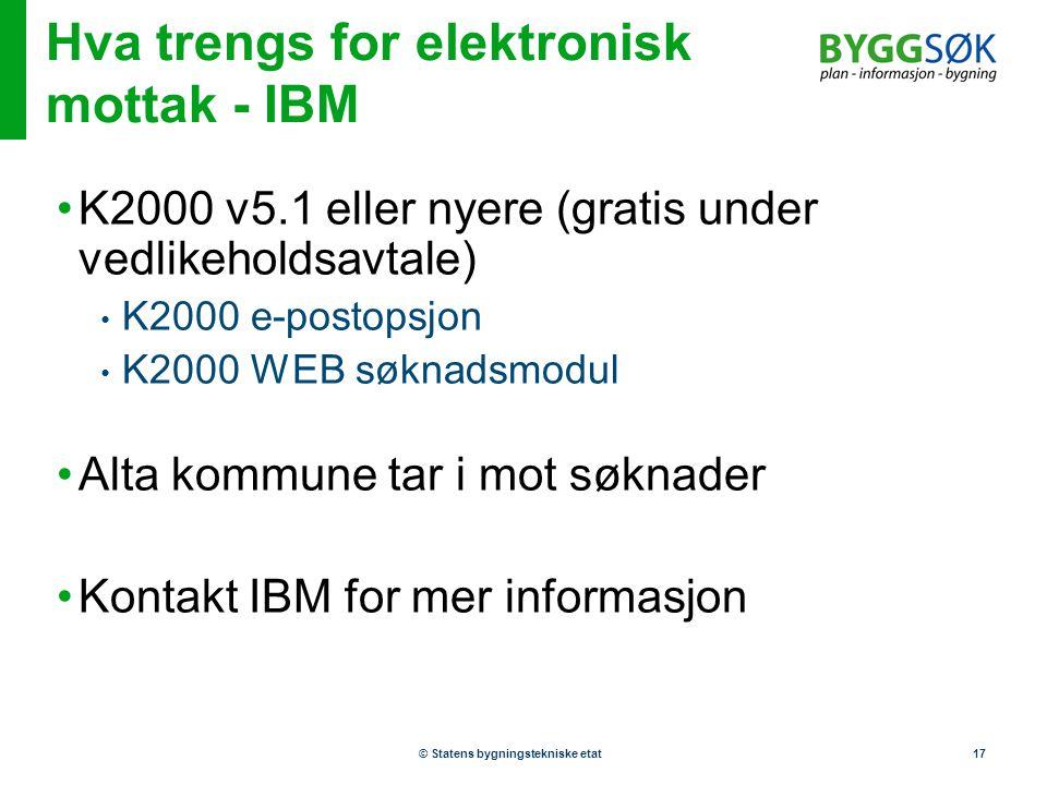 Hva trengs for elektronisk mottak - IBM