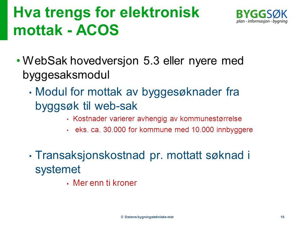 Hva trengs for elektronisk mottak - ACOS