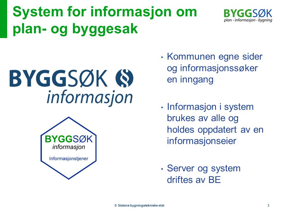 System for informasjon om plan- og byggesak