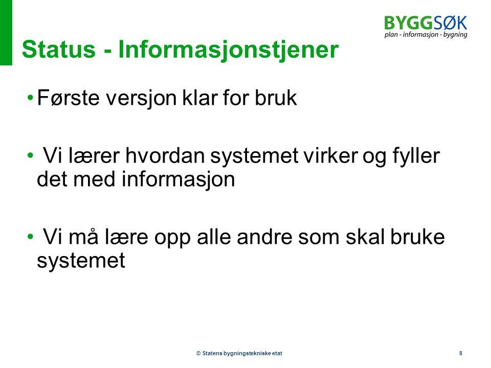 Status - Informasjonstjener
