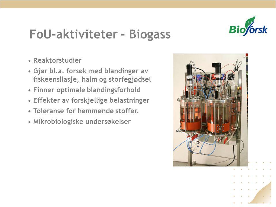 FoU-aktiviteter - Biogass