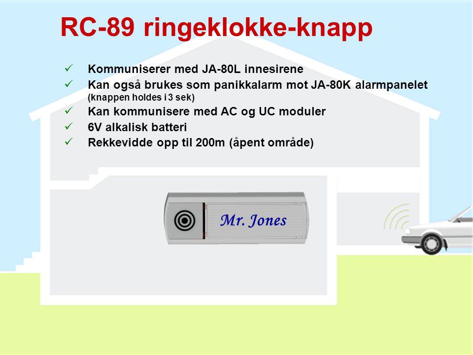 RC-89 ringeklokke-knapp