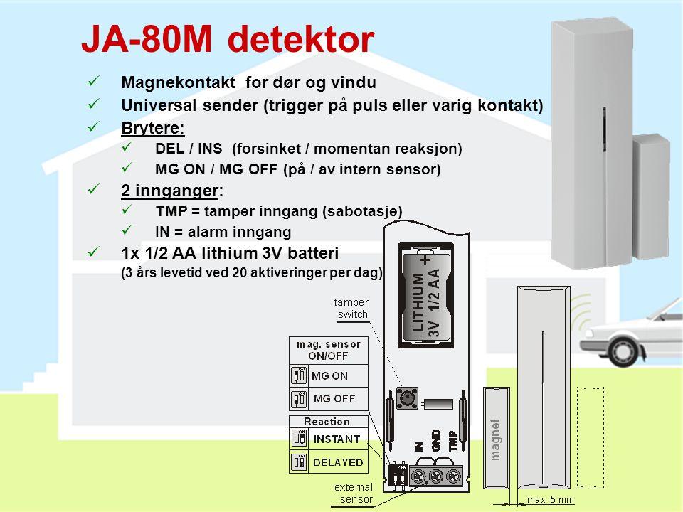 JA-80M detektor Magnekontakt for dør og vindu