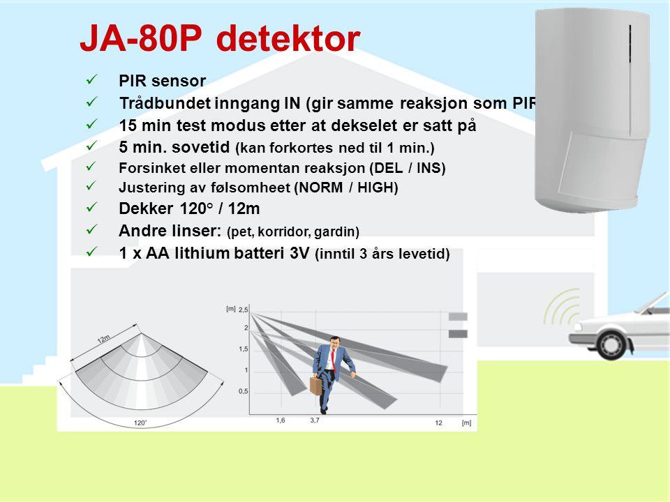 JA-80P detektor PIR sensor
