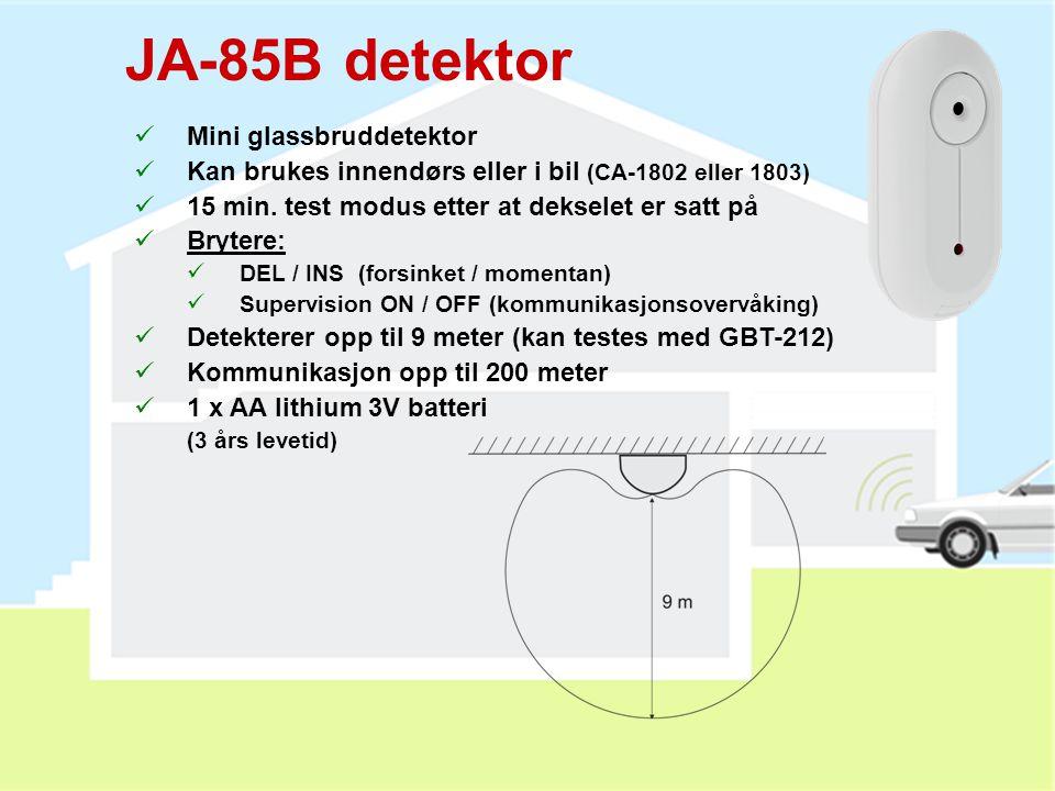 JA-85B detektor Mini glassbruddetektor