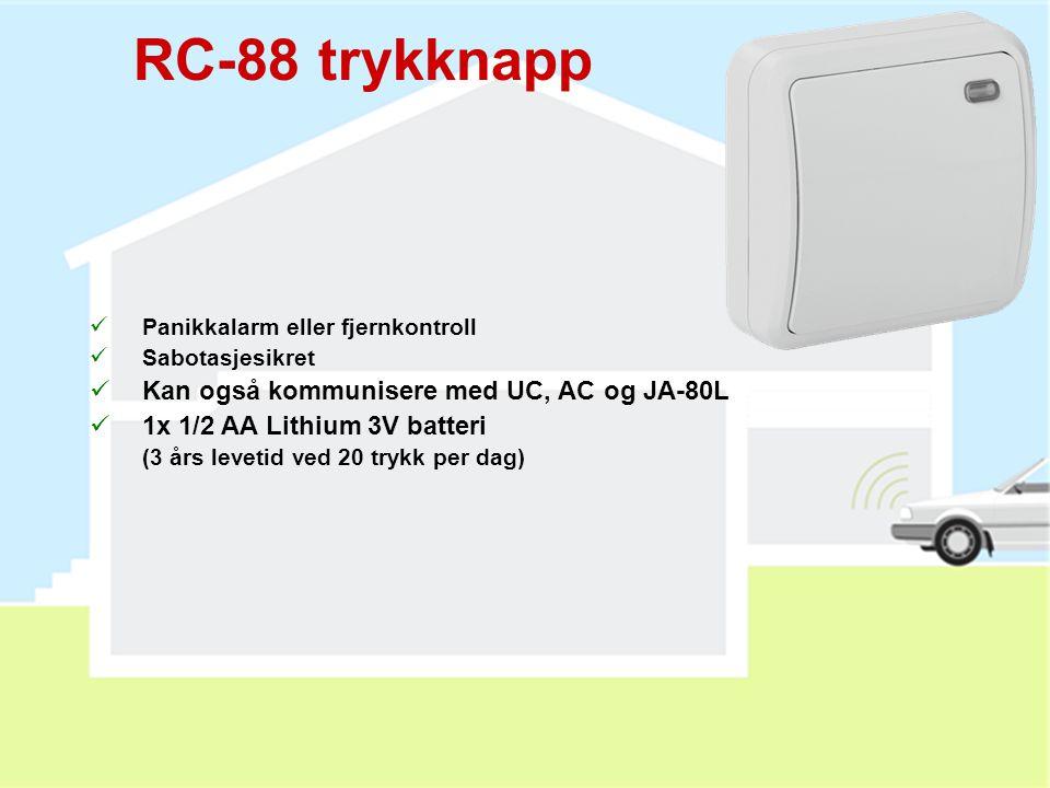 RC-88 trykknapp Kan også kommunisere med UC, AC og JA-80L