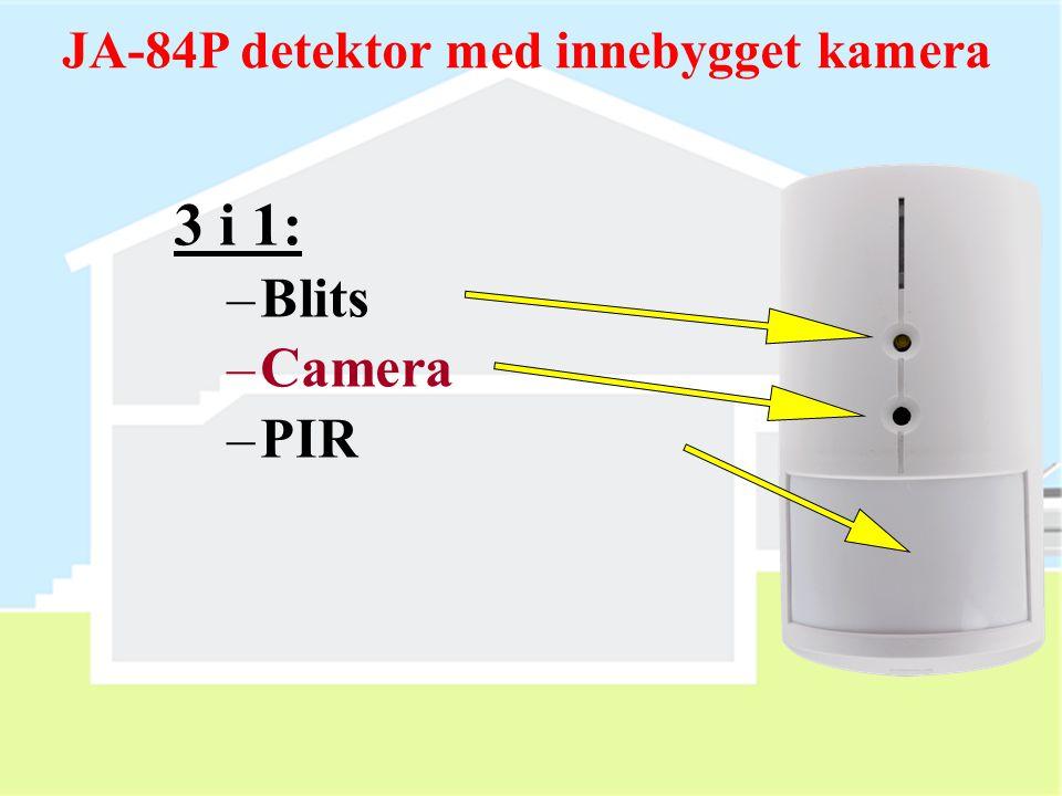 JA-84P detektor med innebygget kamera