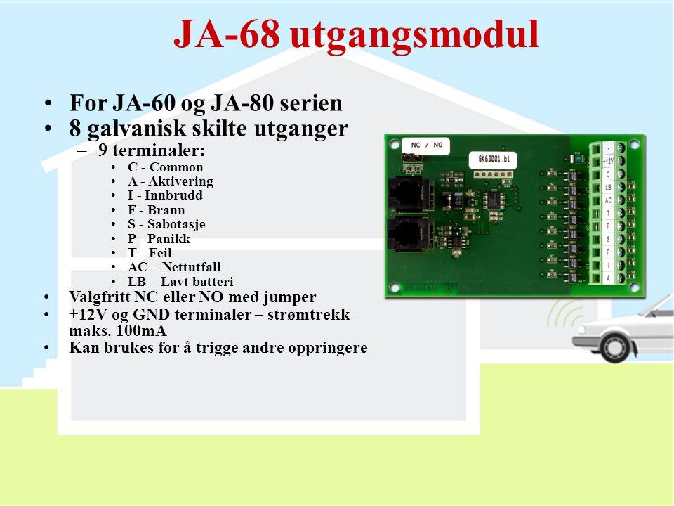 JA-68 utgangsmodul For JA-60 og JA-80 serien