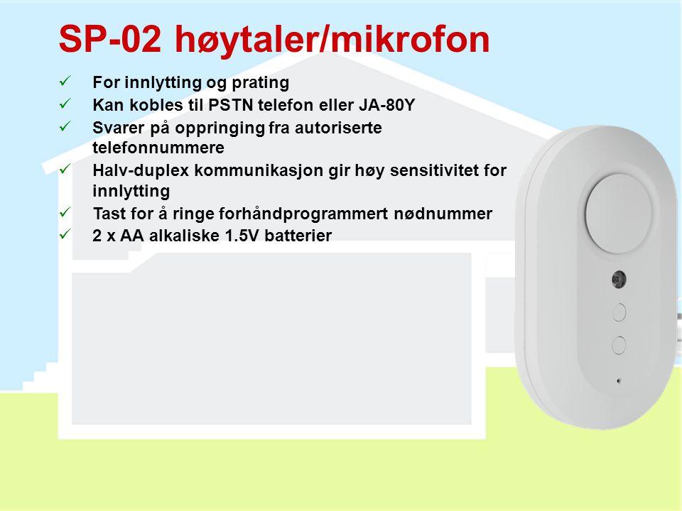SP-02 høytaler/mikrofon