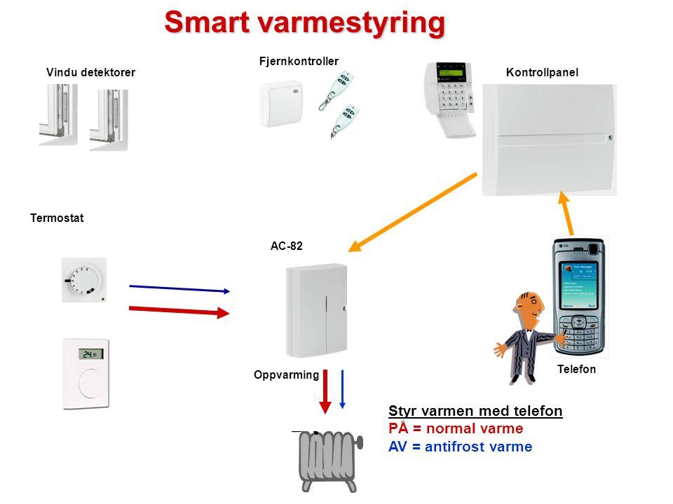 Smart varmestyring Styr varmen med telefon PÅ = normal varme