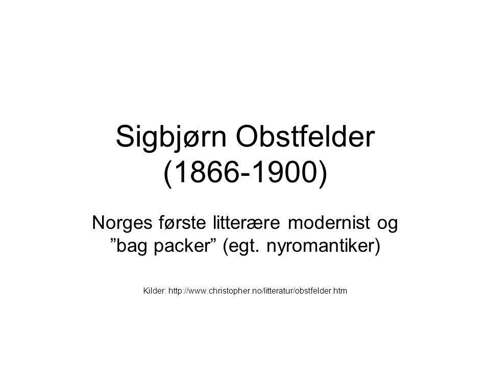 Sigbjørn Obstfelder (1866-1900)