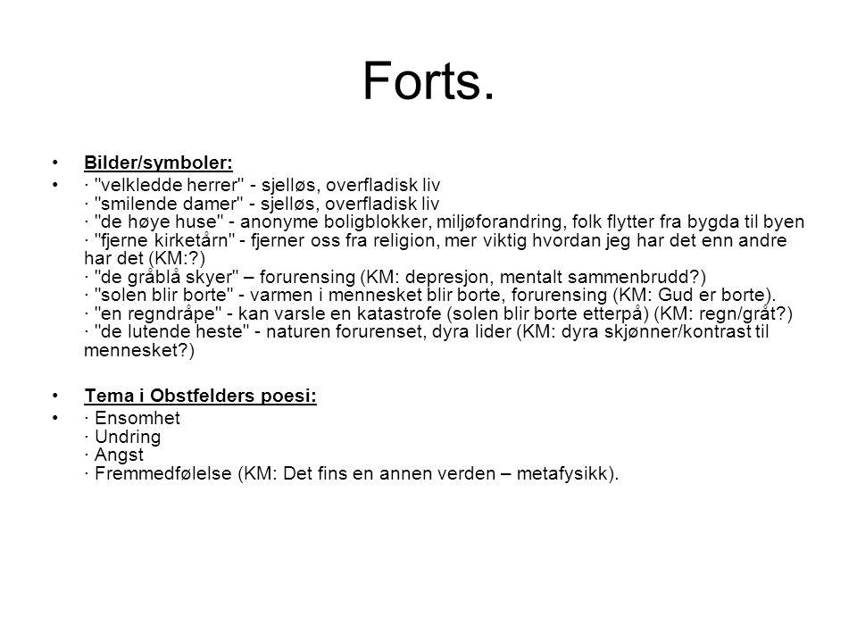 Forts. Bilder/symboler: