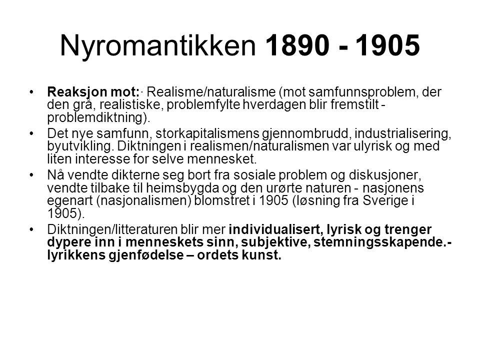 Nyromantikken 1890 - 1905
