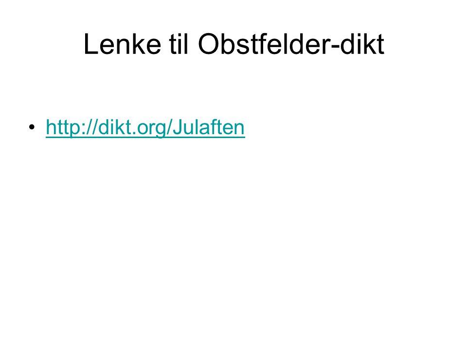 Lenke til Obstfelder-dikt