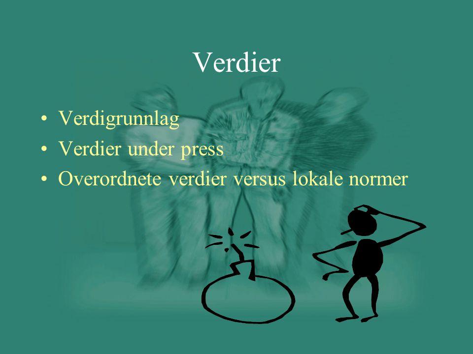 Verdier Verdigrunnlag Verdier under press