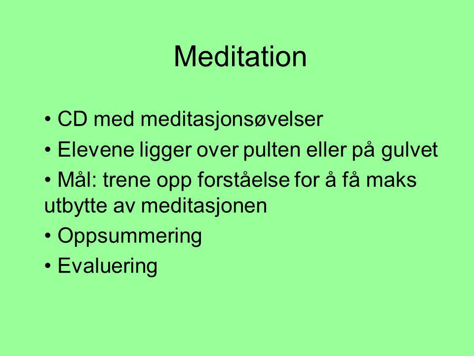 Meditation CD med meditasjonsøvelser