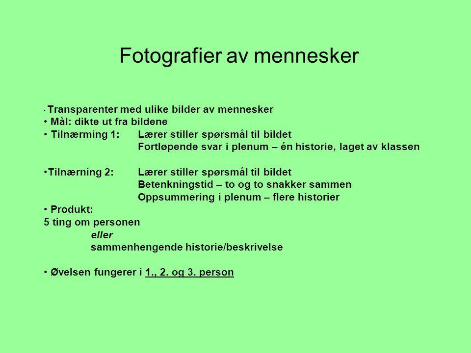 Fotografier av mennesker