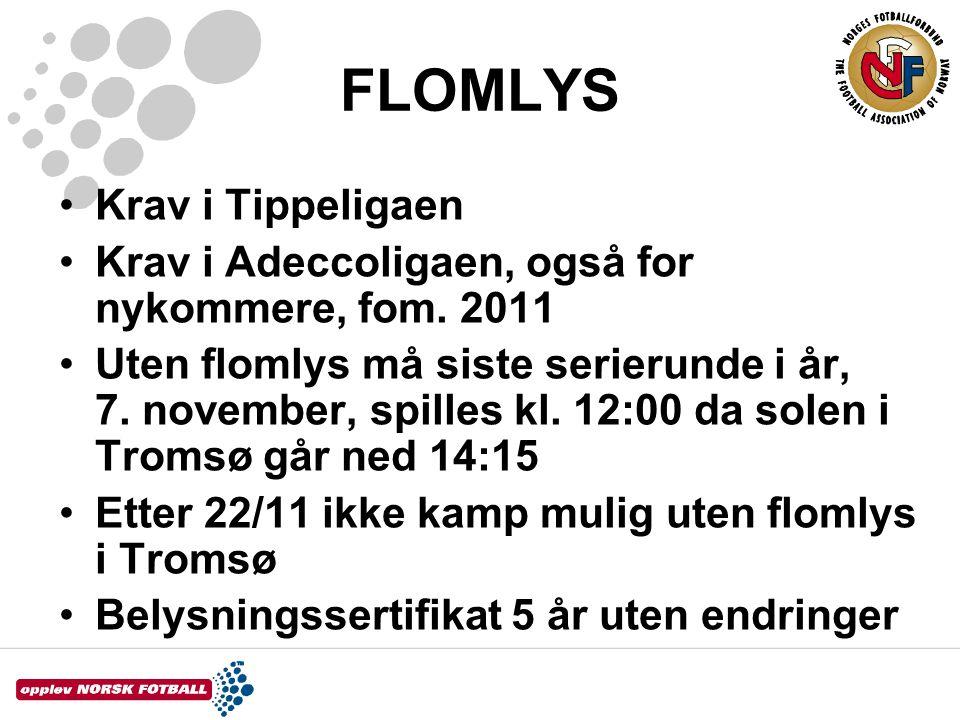 FLOMLYS Krav i Tippeligaen
