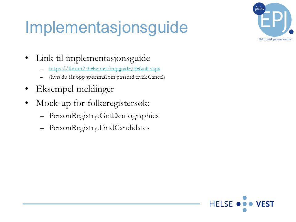 Implementasjonsguide