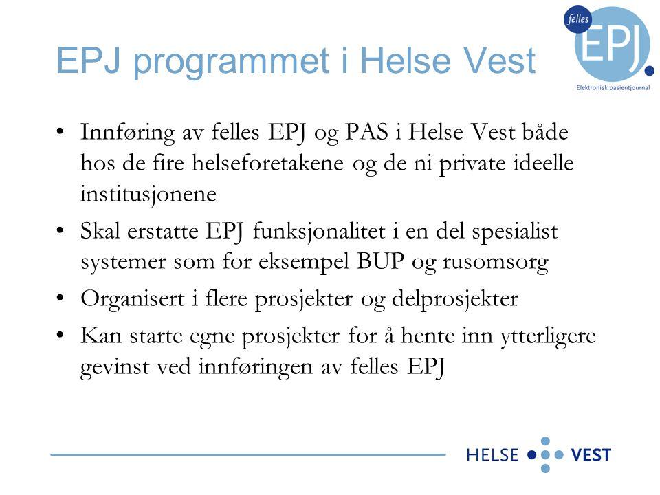 EPJ programmet i Helse Vest