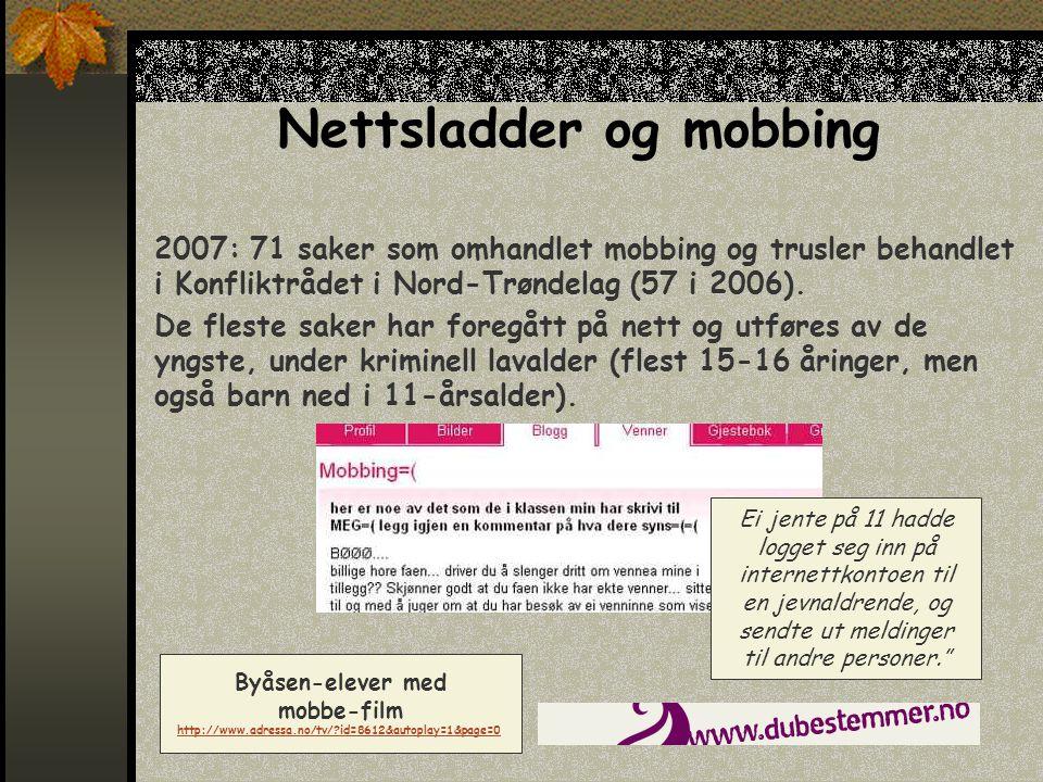 Nettsladder og mobbing