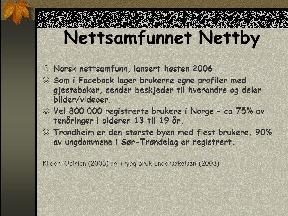 Nettsamfunnet Nettby Norsk nettsamfunn, lansert høsten 2006